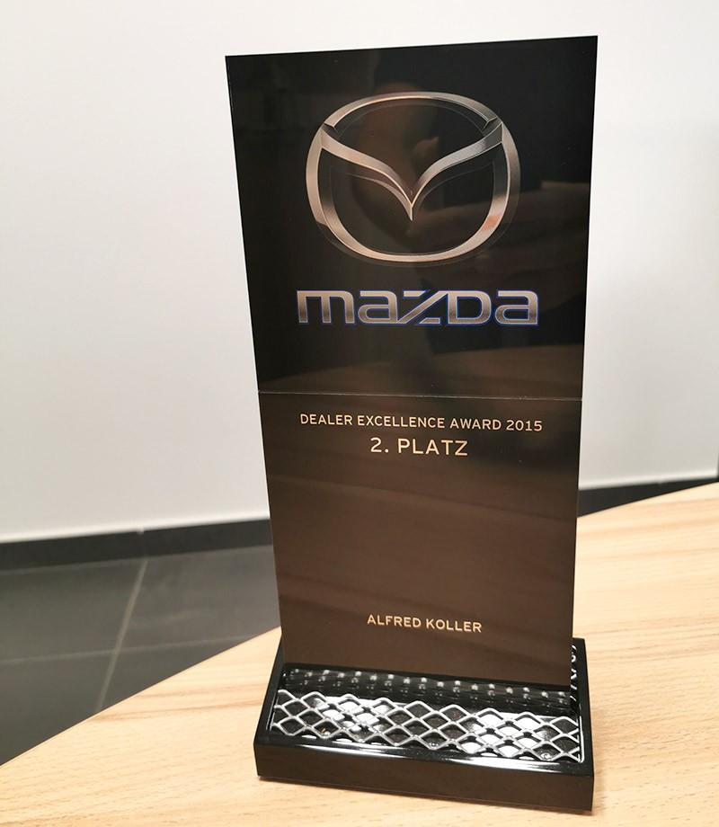 Mazda Auszeichung 2015 - Autohaus Koller | Mazda & Ford Händler